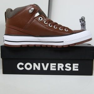 Converse Brown Leather All Star Insulation Boots